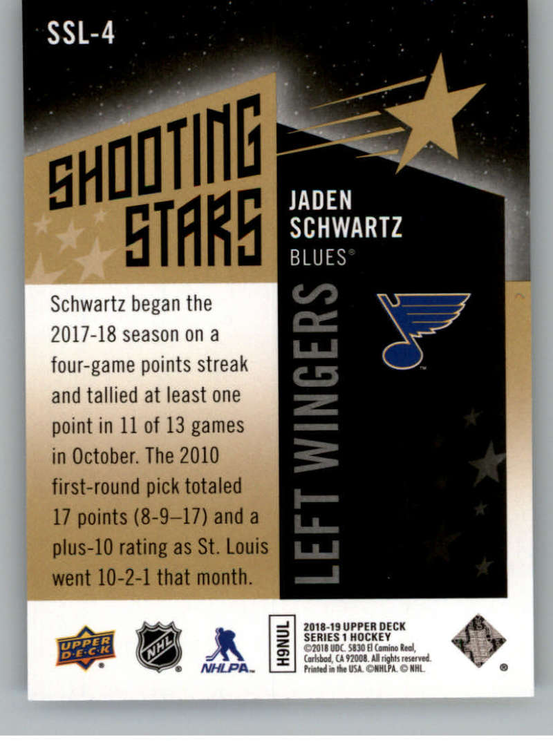 2018-19-Upper-Deck-Shooting-Stars-Blue-or-Black-Insert-Cards-Pick-From-List thumbnail 69