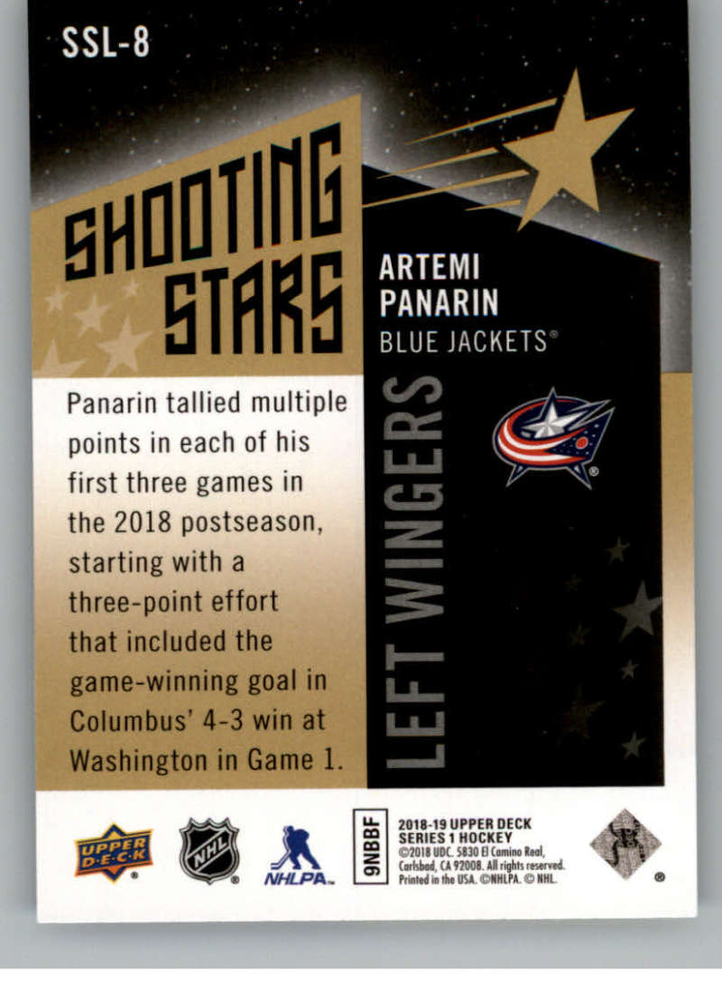 2018-19-Upper-Deck-Shooting-Stars-Blue-or-Black-Insert-Cards-Pick-From-List thumbnail 71