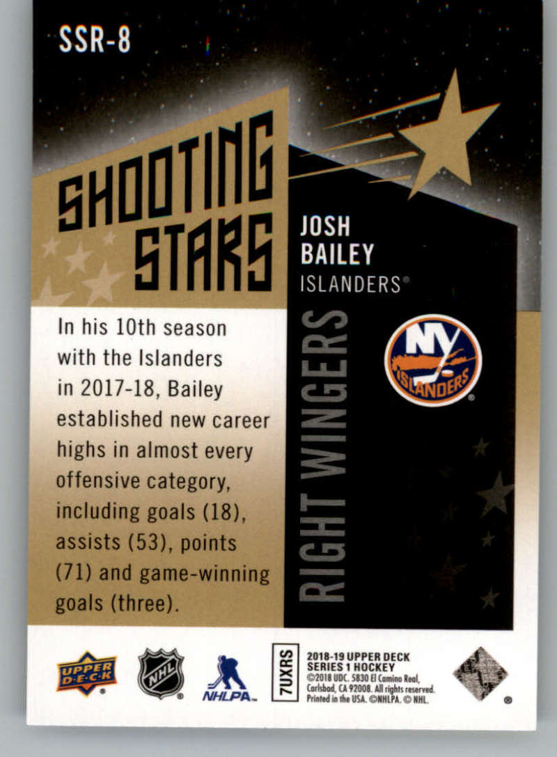 2018-19-Upper-Deck-Shooting-Stars-Blue-or-Black-Insert-Cards-Pick-From-List thumbnail 85