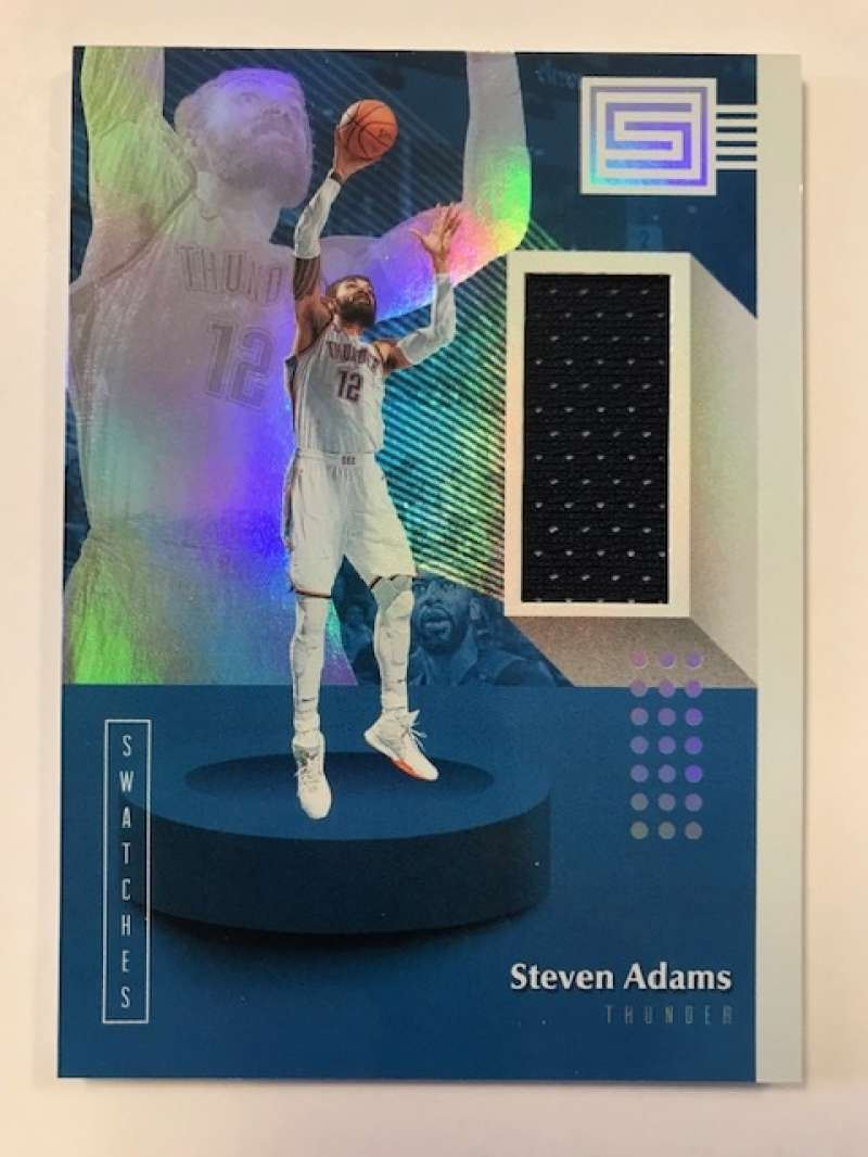 2018-19 Status Swatches Basketball #8 Steven Adams Jersey/Relic Oklahoma City Thunder  Official NBA Trading Card From Panini