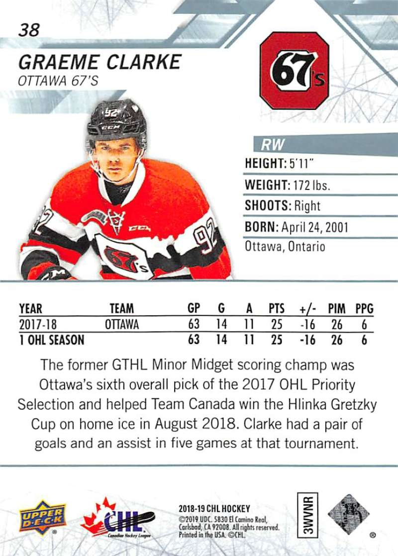 2018-19-Upper-Deck-CHL-Hockey-Cards-Pick-From-List-Base-Cards-1-200 miniature 77