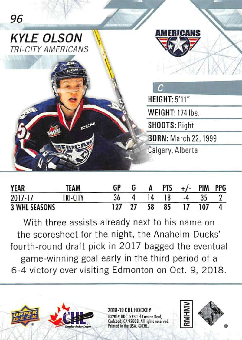 2018-19-Upper-Deck-CHL-Hockey-Cards-Pick-From-List-Base-Cards-1-200 miniature 191