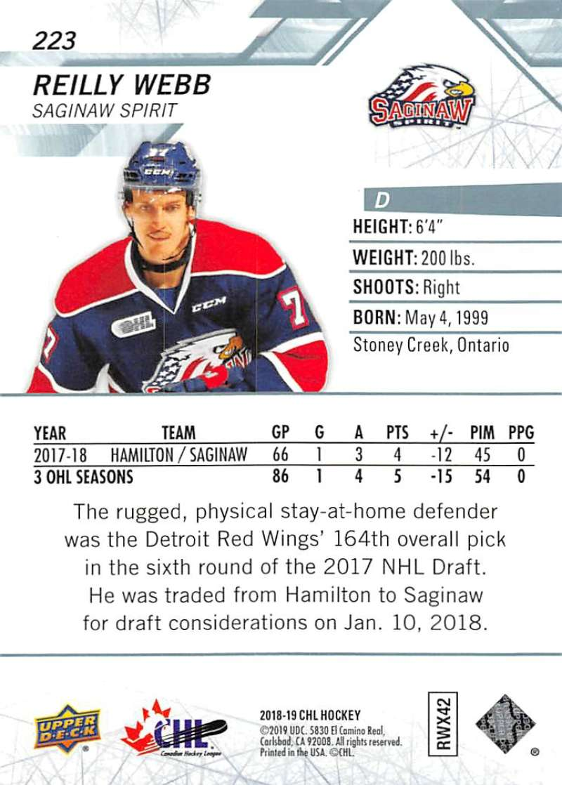 2018-19-Upper-Deck-CHL-Hockey-Cards-Pick-From-List-Base-and-Short-Prints-201-400 miniature 43