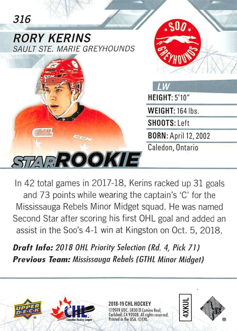 2018-19-Upper-Deck-CHL-Hockey-Cards-Pick-From-List-Base-and-Short-Prints-201-400 miniature 219