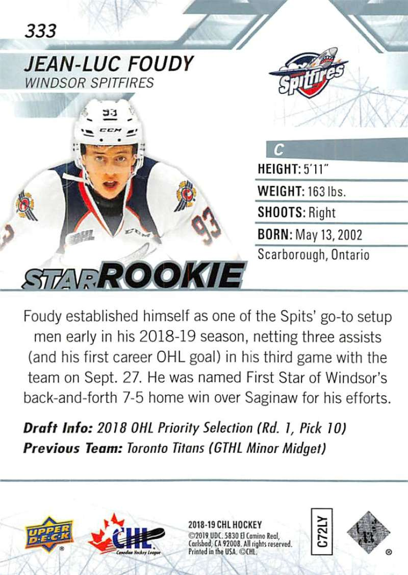 2018-19-Upper-Deck-CHL-Hockey-Cards-Pick-From-List-Base-and-Short-Prints-201-400 miniature 251