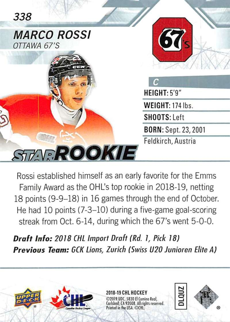 2018-19-Upper-Deck-CHL-Hockey-Cards-Pick-From-List-Base-and-Short-Prints-201-400 miniature 259