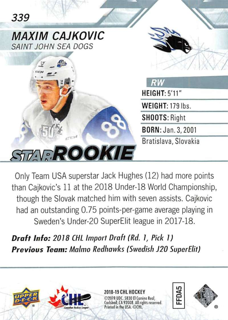 2018-19-Upper-Deck-CHL-Hockey-Cards-Pick-From-List-Base-and-Short-Prints-201-400 miniature 261