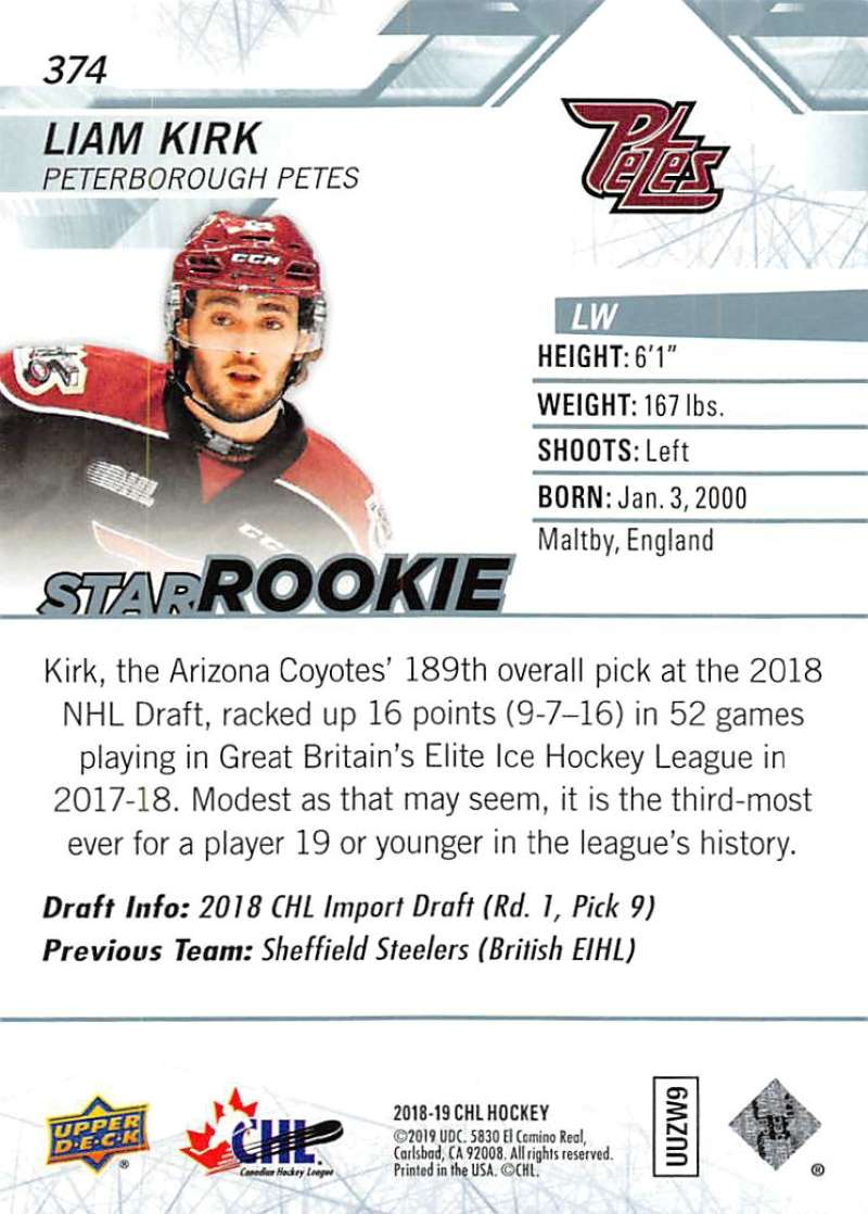 2018-19-Upper-Deck-CHL-Hockey-Cards-Pick-From-List-Base-and-Short-Prints-201-400 miniature 317