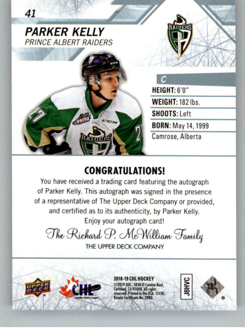 2018-19-Upper-Deck-CHL-Hockey-Autographed-Cards-Pick-From-List miniature 21