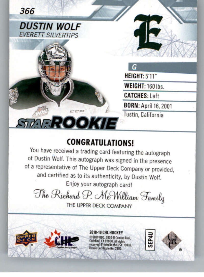 2018-19-Upper-Deck-CHL-Hockey-Autographed-Cards-Pick-From-List miniature 61