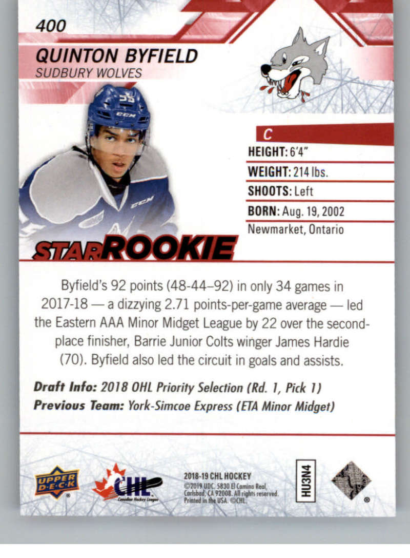 2018-19-Upper-Deck-CHL-Exclusives-Or-High-Gloss-Pick-From-List miniature 33