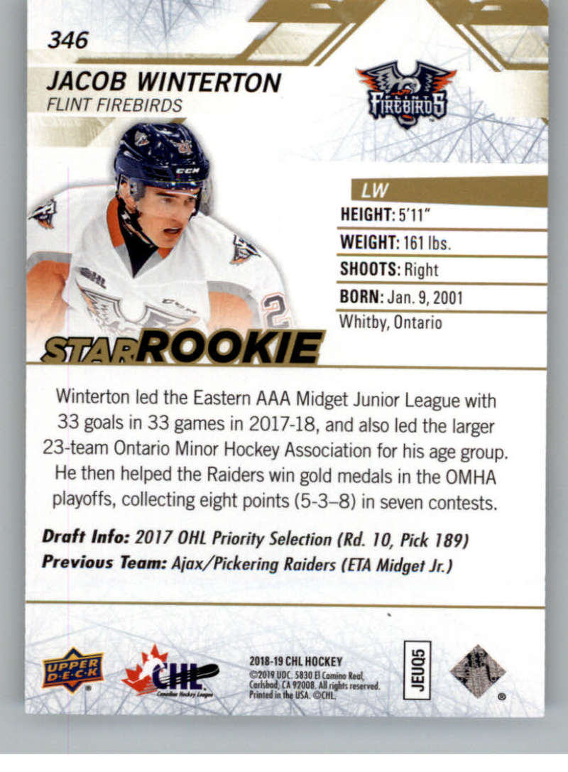 2018-19-Upper-Deck-CHL-Exclusives-Or-High-Gloss-Pick-From-List miniature 37