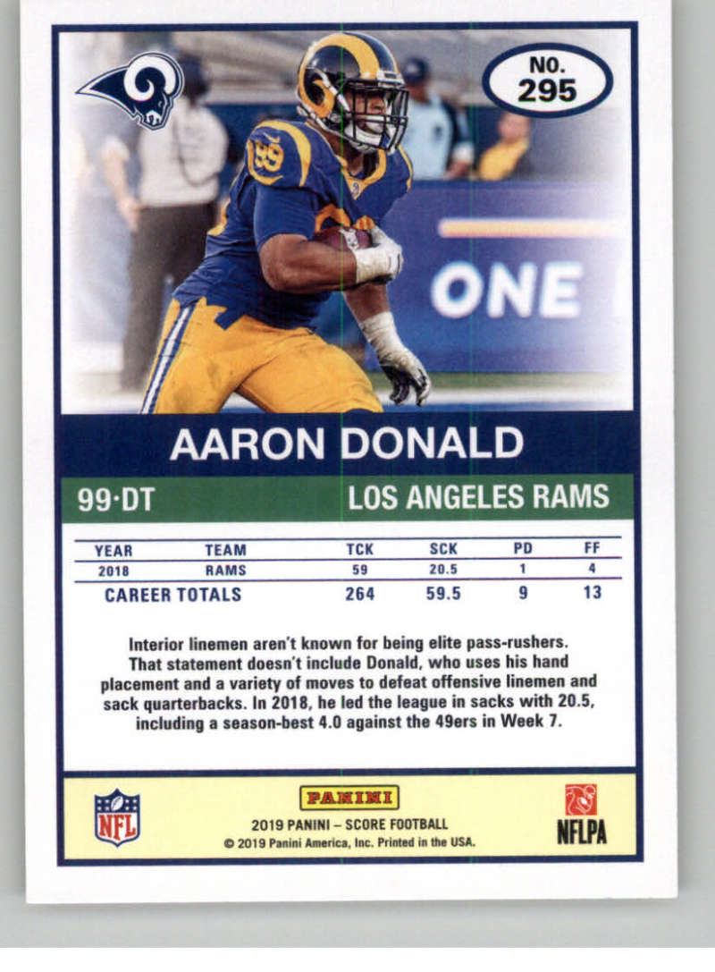 2019-Score-Gold-Football-Parallel-Cards-Pick-From-List-221-440-With-Rookies thumbnail 33