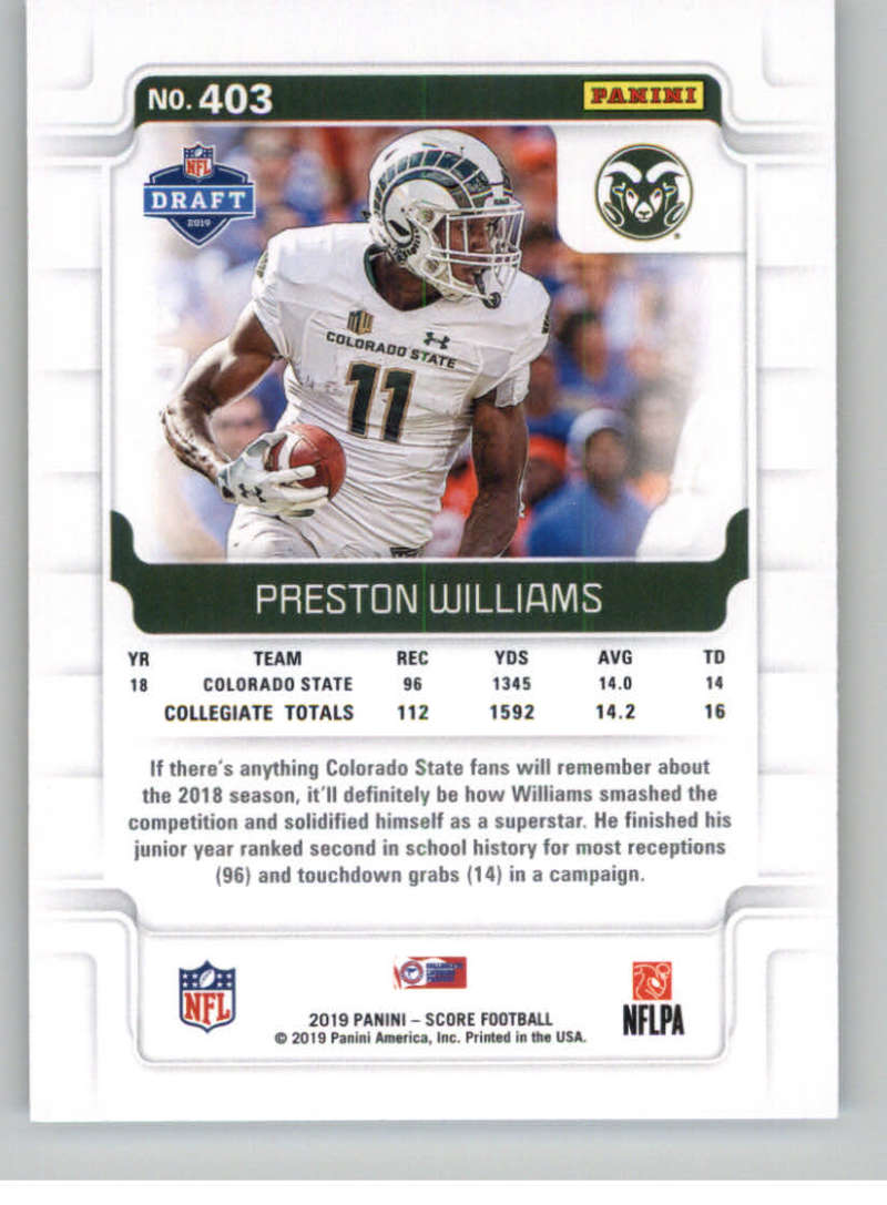 2019-Score-Gold-Football-Parallel-Cards-Pick-From-List-221-440-With-Rookies thumbnail 89