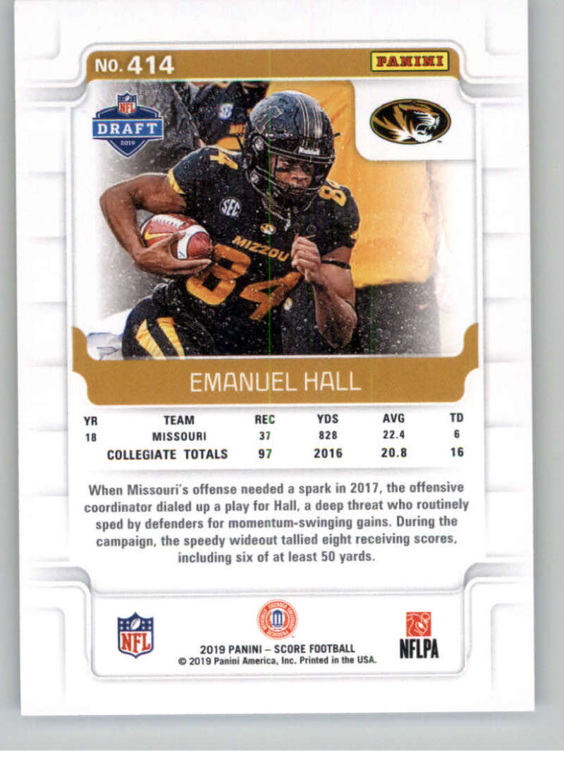 2019-Score-Gold-Football-Parallel-Cards-Pick-From-List-221-440-With-Rookies thumbnail 95
