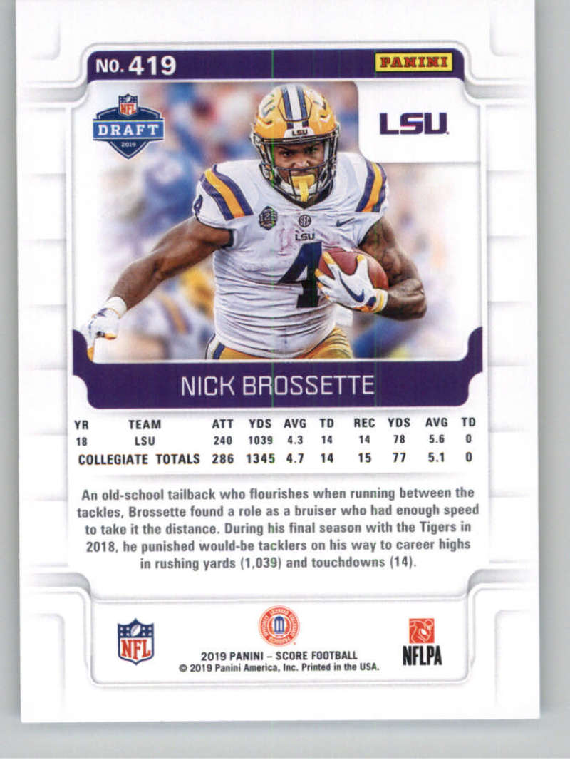 2019-Score-Gold-Football-Parallel-Cards-Pick-From-List-221-440-With-Rookies thumbnail 99