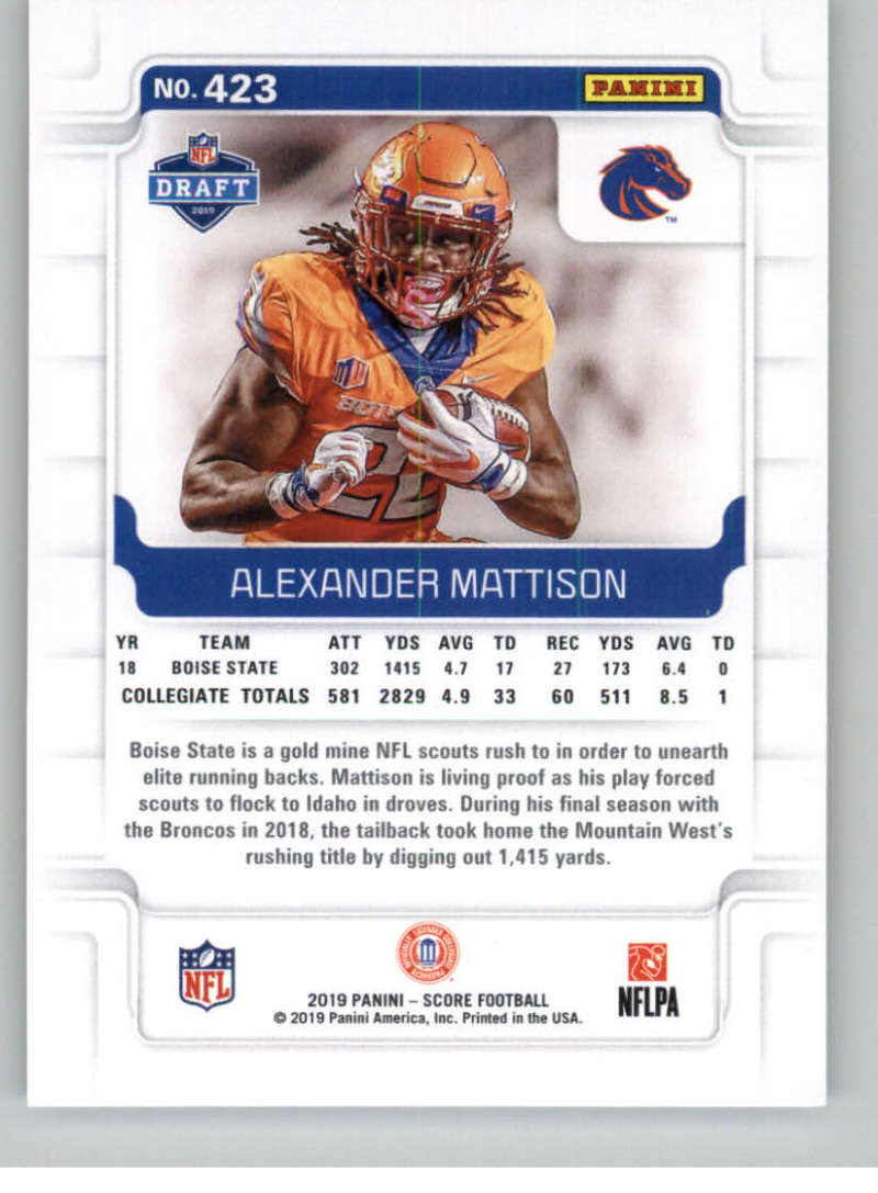 2019-Score-Gold-Football-Parallel-Cards-Pick-From-List-221-440-With-Rookies thumbnail 101