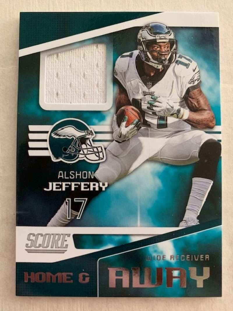2019 Score Home and Away (Away) Football Jersey #4 Alshon Jeffery Philadelphia Eagles  Official NFL Trading Card From Panini