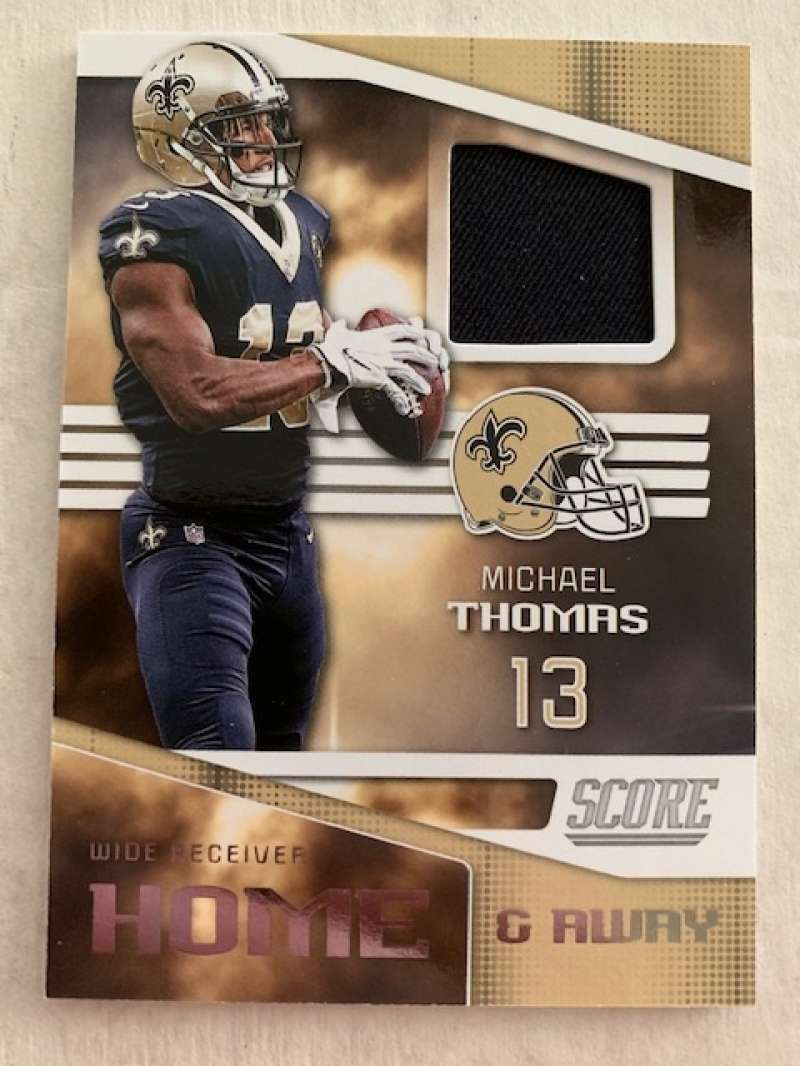 2019 Score Home and Away (Home) Football Jersey #3 Michael Thomas New Orleans Saints  Official NFL Trading Card From Panini