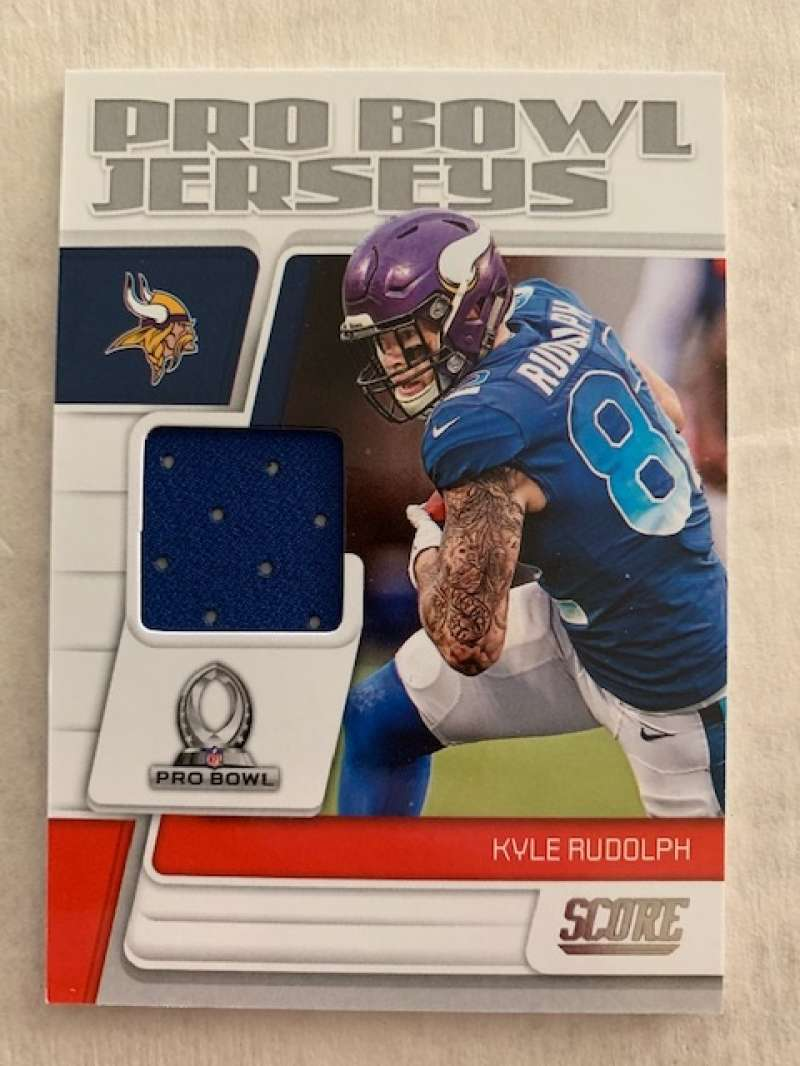 2019 Score Pro Bowl Jersey Football #10 Kyle Rudolph Jersey/Relic Minnesota Vikings  Official NFL Trading Card From Panini