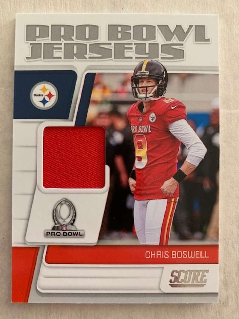 2019 Score Pro Bowl Jersey Football #16 Chris Boswell Jersey/Relic Pittsburgh Steelers  Official NFL Trading Card From Panini