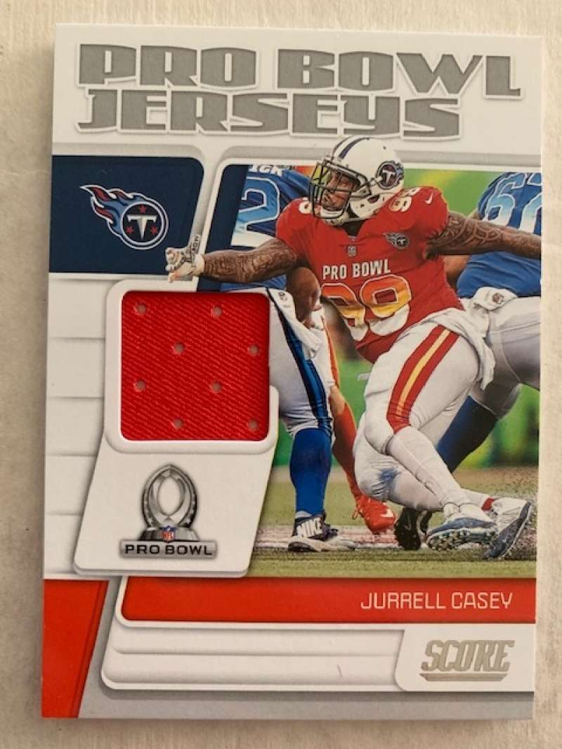 2019 Score Pro Bowl Jersey Football #24 Jurrell Casey Jersey/Relic Tennessee Titans  Official NFL Trading Card From Panini