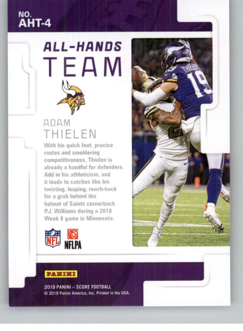 2019-Score-Purple-NFL-Football-INSERT-CARDS-Pick-From-List-All-Sets-Included thumbnail 7