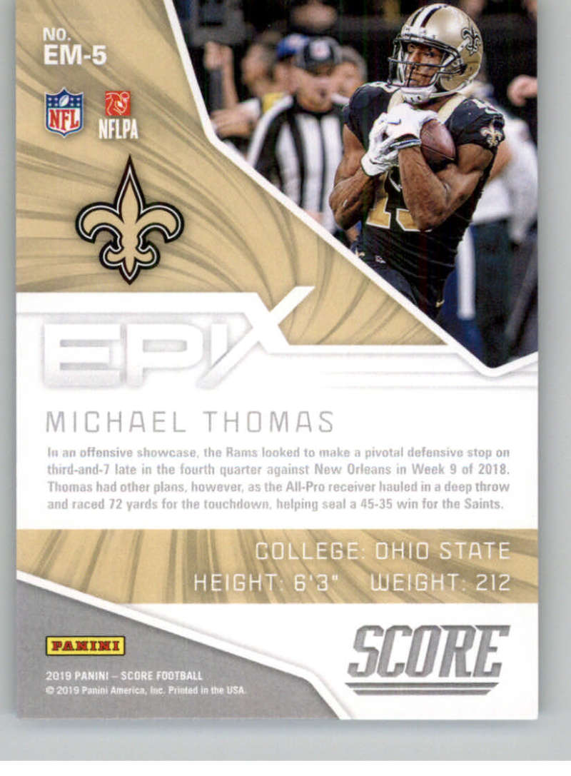 2019-Score-Purple-NFL-Football-INSERT-CARDS-Pick-From-List-All-Sets-Included thumbnail 59
