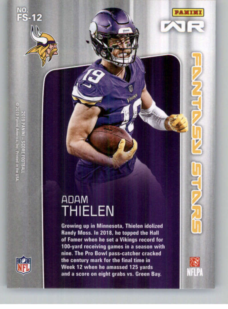 2019-Score-Purple-NFL-Football-INSERT-CARDS-Pick-From-List-All-Sets-Included thumbnail 77