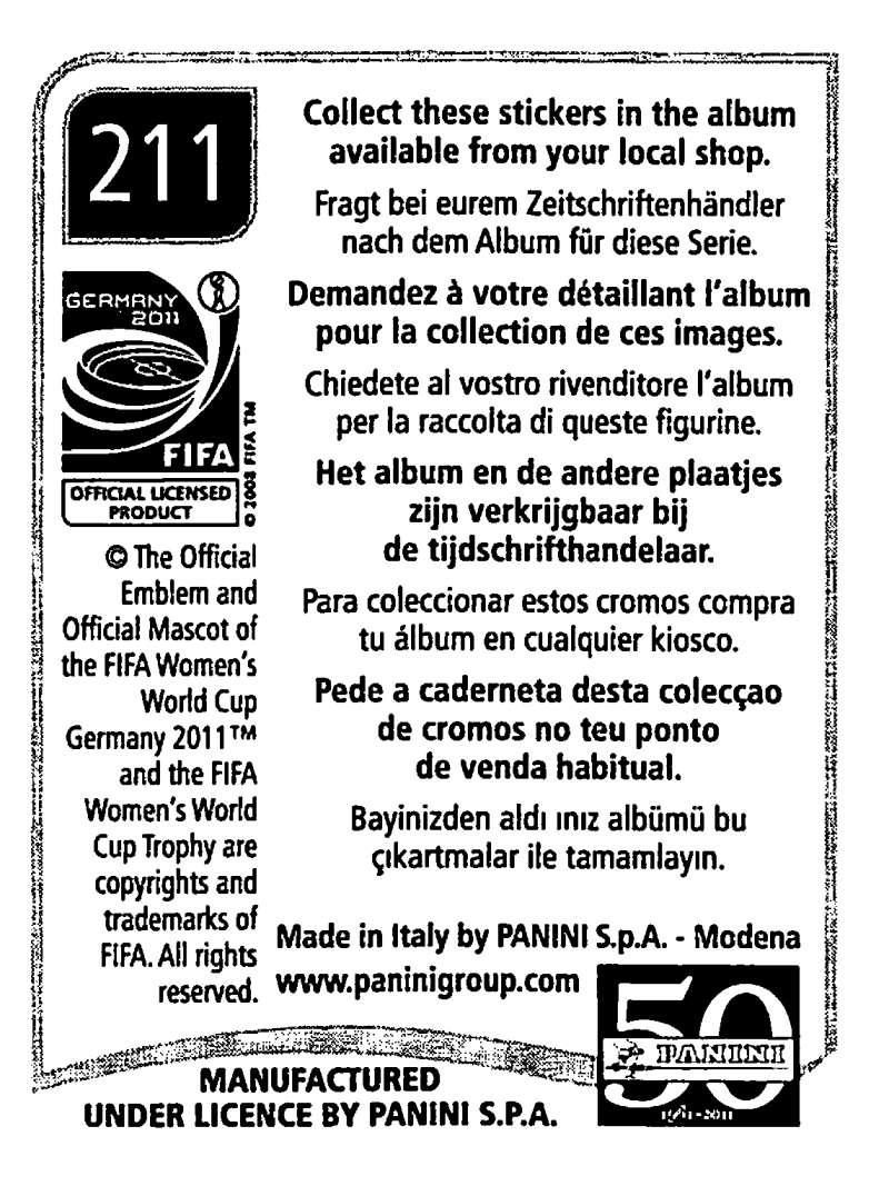2011-Panini-FIFA-Women-039-s-World-Cup-Album-Stickers-Pick-From-List-201-S9 thumbnail 21