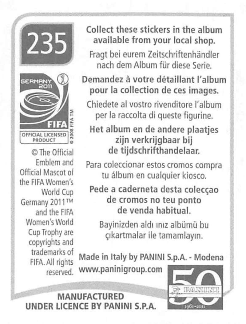 2011-Panini-FIFA-Women-039-s-World-Cup-Album-Stickers-Pick-From-List-201-S9 thumbnail 57