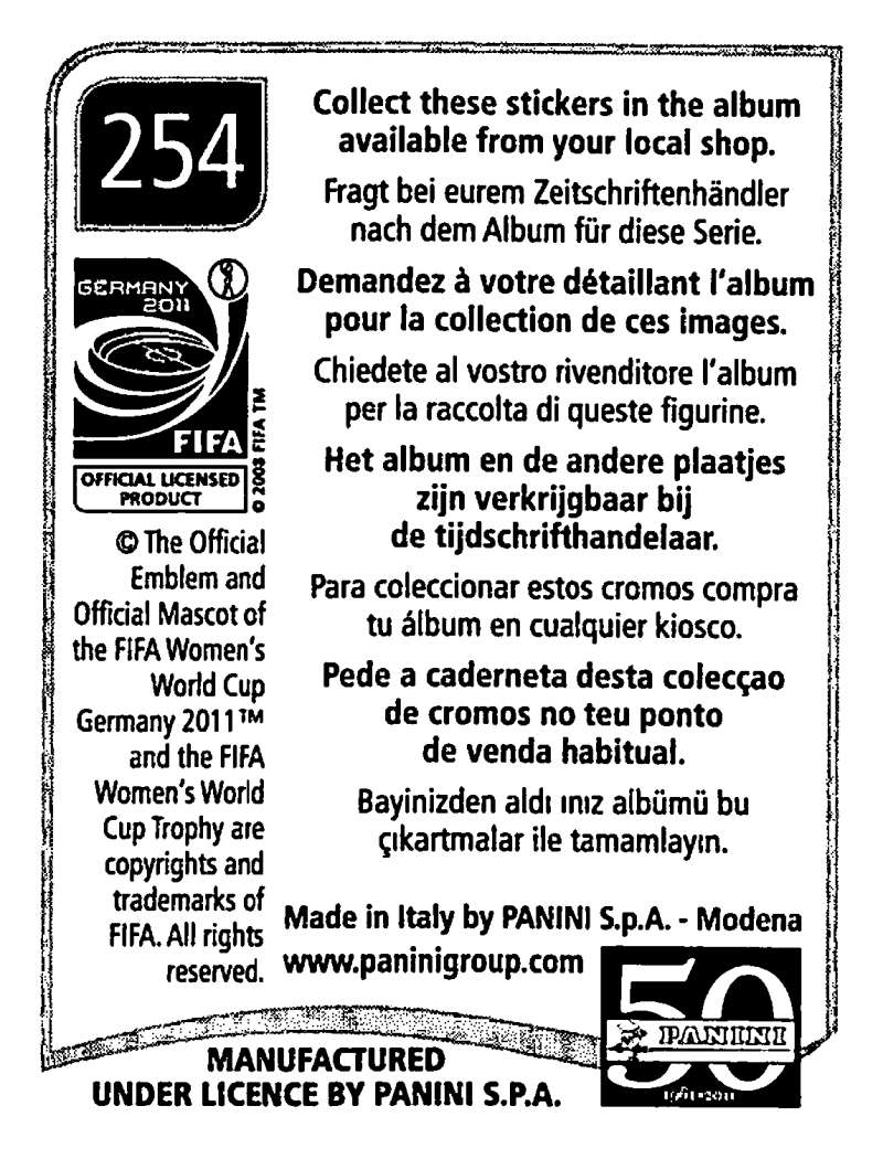 2011-Panini-FIFA-Women-039-s-World-Cup-Album-Stickers-Pick-From-List-201-S9 thumbnail 85