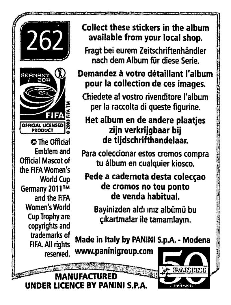 2011-Panini-FIFA-Women-039-s-World-Cup-Album-Stickers-Pick-From-List-201-S9 thumbnail 97