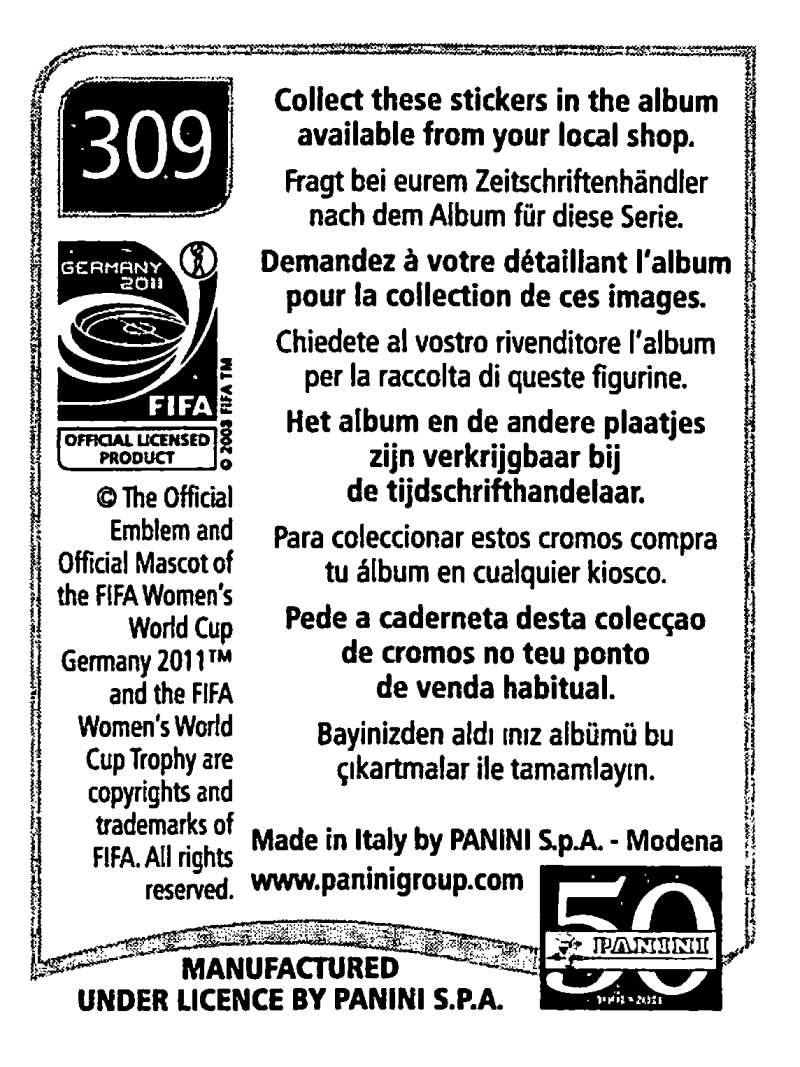 2011-Panini-FIFA-Women-039-s-World-Cup-Album-Stickers-Pick-From-List-201-S9 thumbnail 169