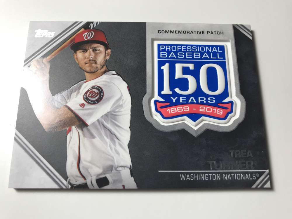 2019-Topps-150th-Anniversary-Patches-All-versions-Included-Pick-From-List thumbnail 38