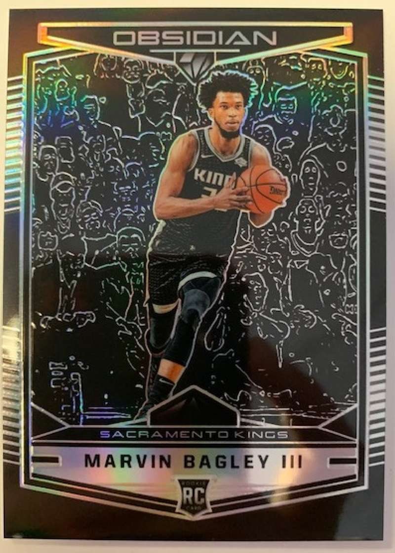 2018-19 Chronicles Obsidian Preview Basketball #576 Marvin Bagley III Sacramento Kings Official NBA Trading Card From Pa
