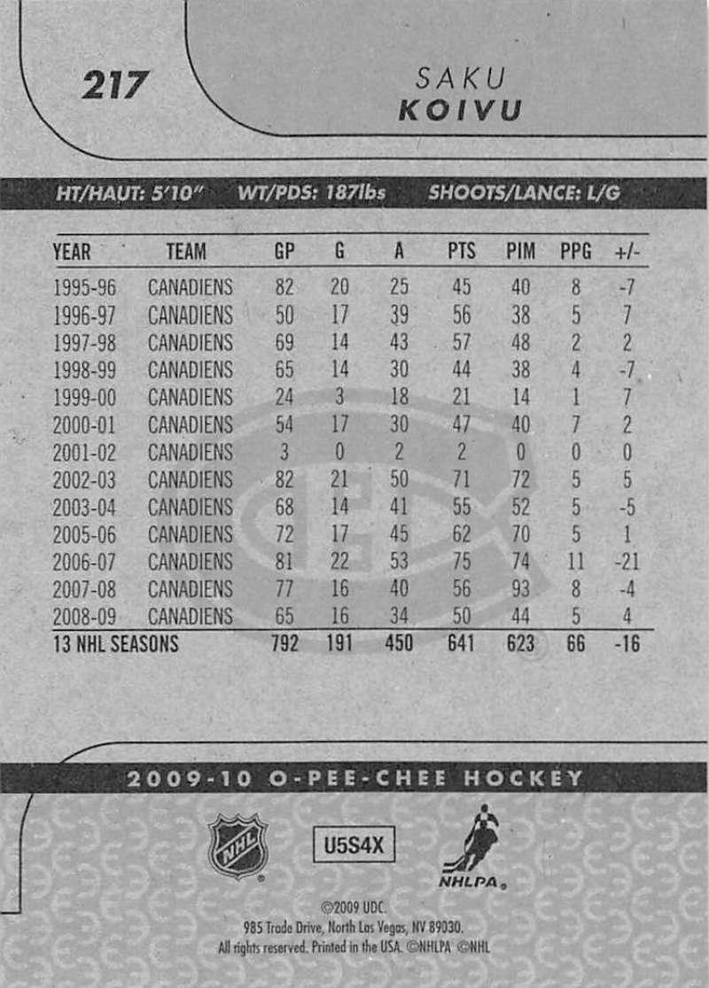 2009-10-O-Pee-Chee-OPC-NHL-Hockey-Trading-Card-Pick-From-List-201-400 miniature 35