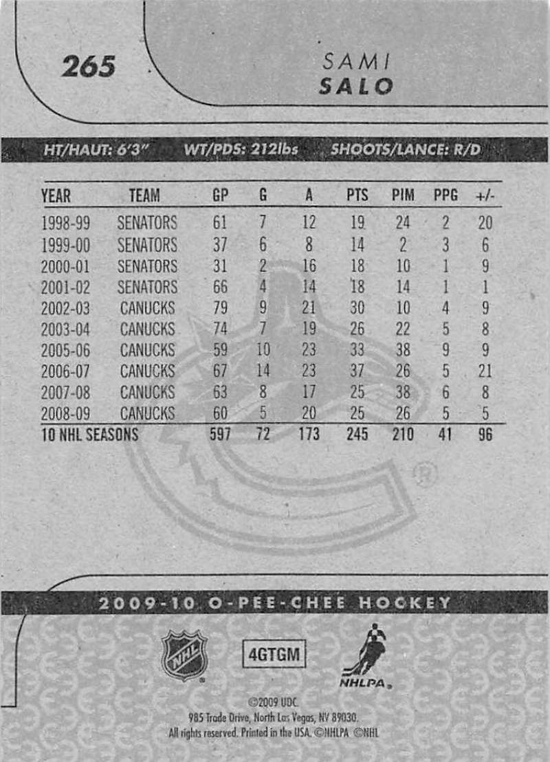 2009-10-O-Pee-Chee-OPC-NHL-Hockey-Trading-Card-Pick-From-List-201-400 miniature 125