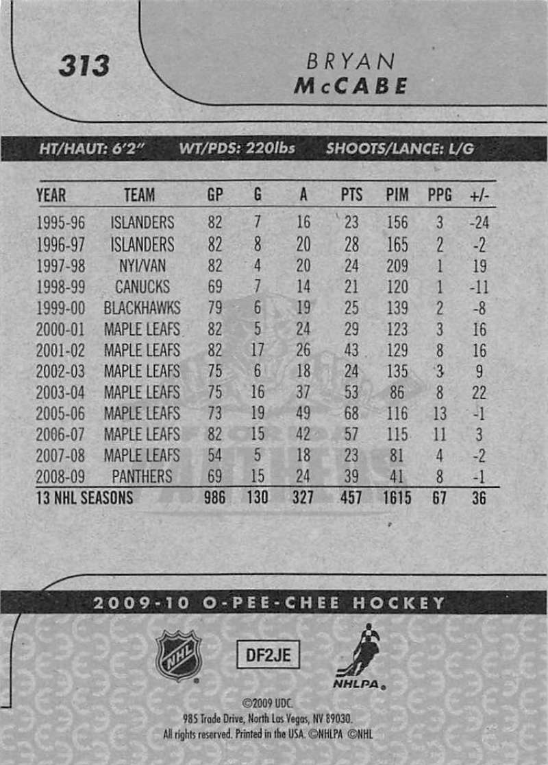 2009-10-O-Pee-Chee-OPC-NHL-Hockey-Trading-Card-Pick-From-List-201-400 miniature 213