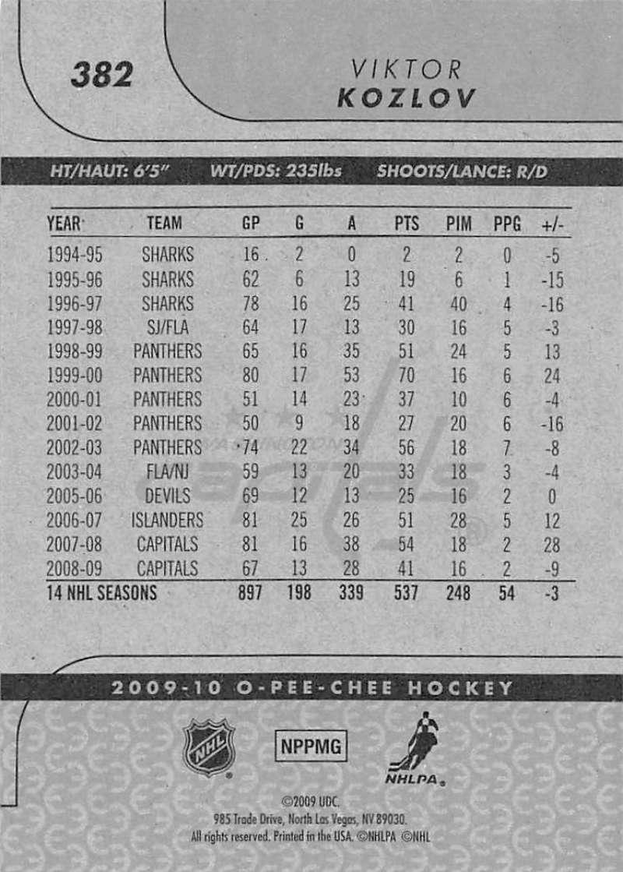 2009-10-O-Pee-Chee-OPC-NHL-Hockey-Trading-Card-Pick-From-List-201-400 miniature 345