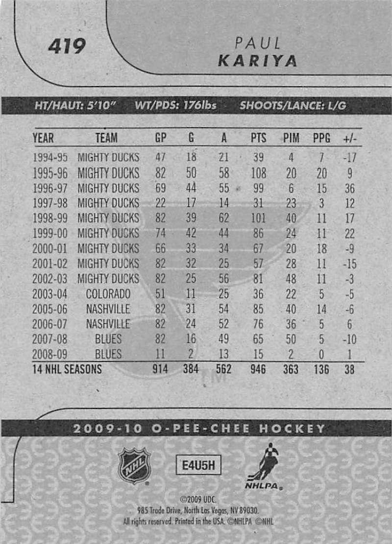 2009-10-O-Pee-Chee-OPC-NHL-Hockey-Trading-Card-Pick-From-List-401-600 Indexbild 37