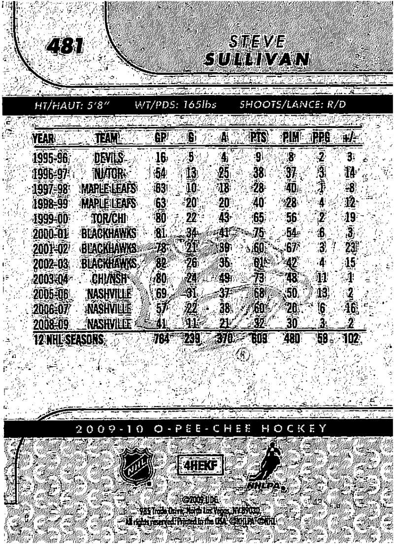 2009-10-O-Pee-Chee-OPC-NHL-Hockey-Trading-Card-Pick-From-List-401-600 Indexbild 145