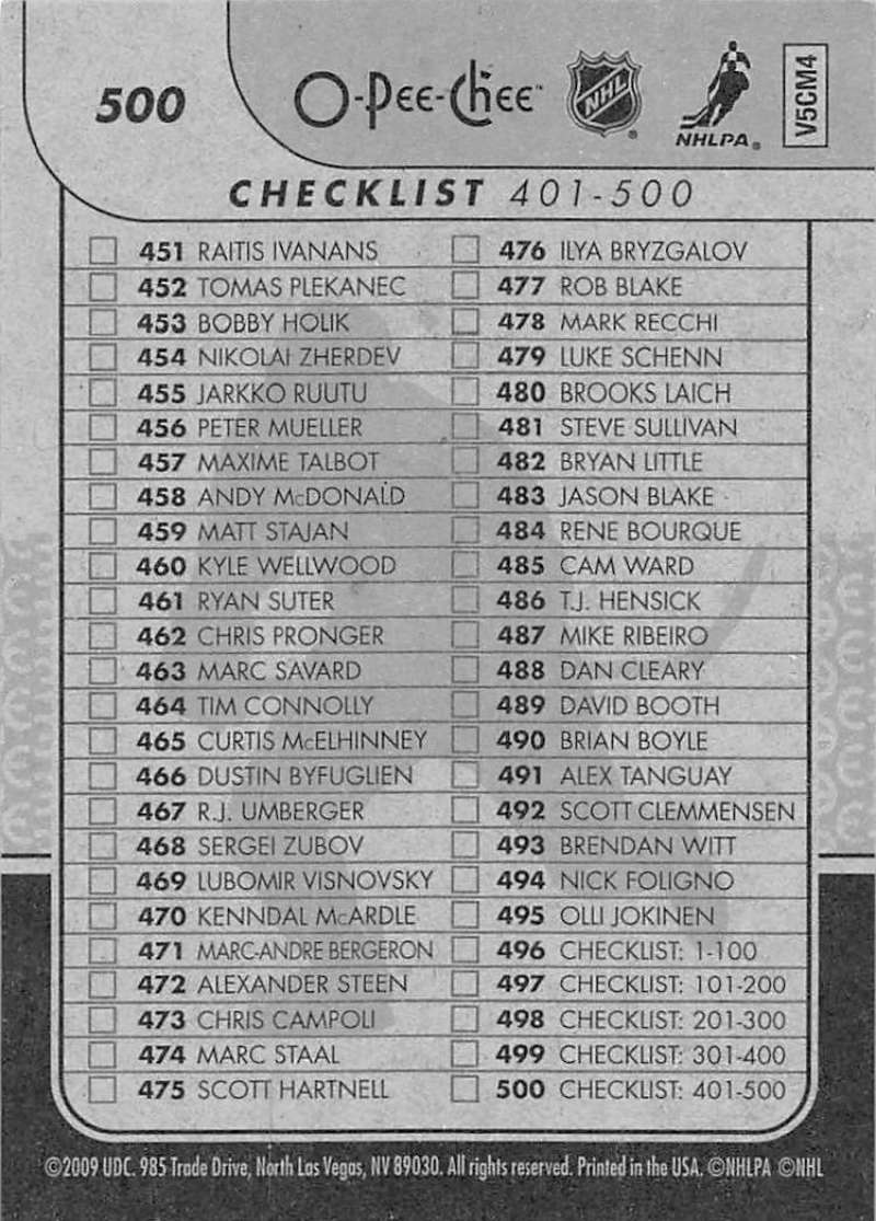 2009-10-O-Pee-Chee-OPC-NHL-Hockey-Trading-Card-Pick-From-List-401-600 Indexbild 183