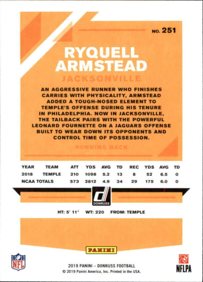 2019-Donruss-Panini-NFL-Football-Cards-Pick-From-List-201-350-With-Rookies thumbnail 103