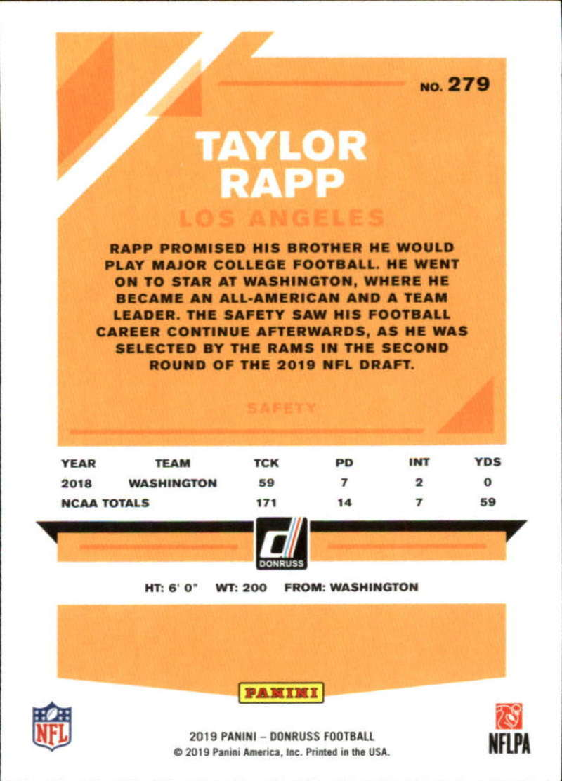 2019-Donruss-Panini-NFL-Football-Cards-Pick-From-List-201-350-With-Rookies thumbnail 159