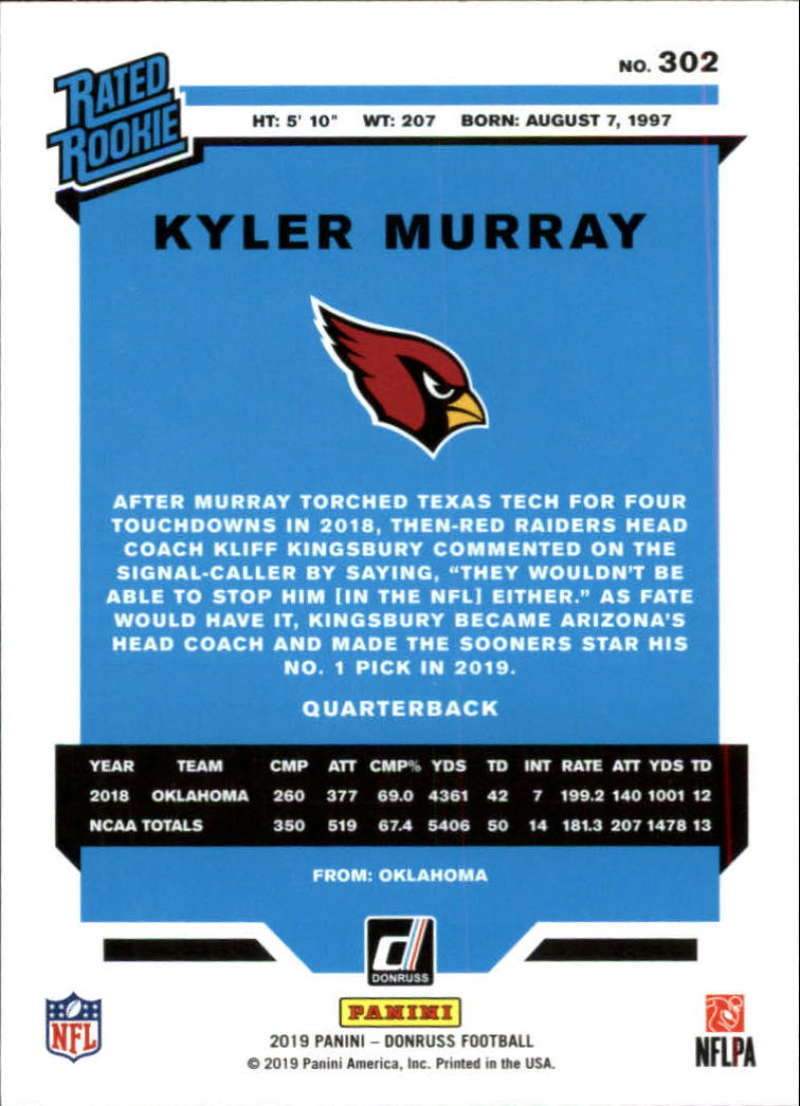 2019-Donruss-Panini-NFL-Football-Cards-Pick-From-List-201-350-With-Rookies thumbnail 203