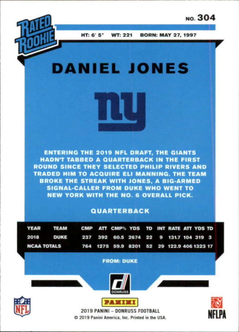 2019-Donruss-Panini-NFL-Football-Cards-Pick-From-List-201-350-With-Rookies thumbnail 205