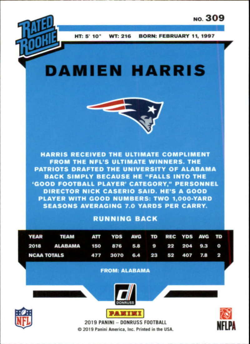 2019-Donruss-Panini-NFL-Football-Cards-Pick-From-List-201-350-With-Rookies thumbnail 211