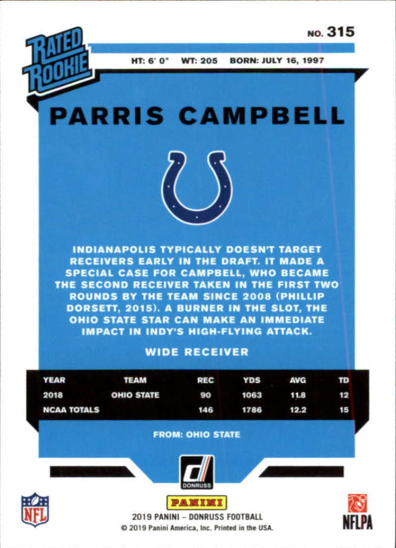 2019-Donruss-Panini-NFL-Football-Cards-Pick-From-List-201-350-With-Rookies thumbnail 215