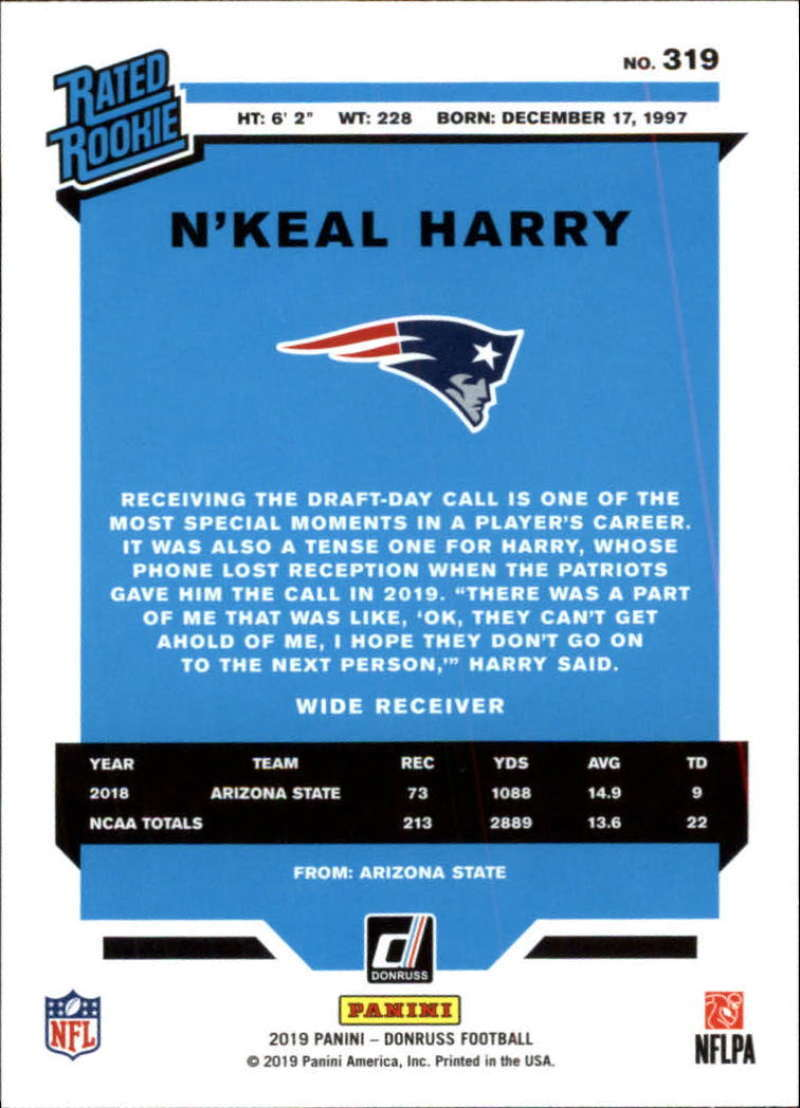 2019-Donruss-Panini-NFL-Football-Cards-Pick-From-List-201-350-With-Rookies thumbnail 219